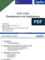 DUV LEDs - Development and Applicatoins