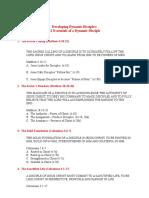 12 Essentials of a Dynamic Disciple - Sermon Series