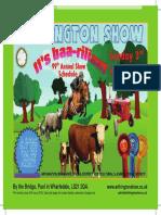 Arthington 2016_show Schedule