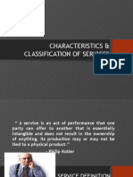 Characteristics and Classification of Services