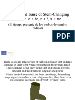 The Present Tense of Stem-changing Verbs