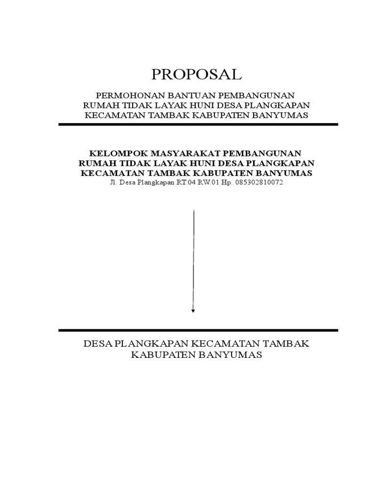 Contoh Proposal Rtlh Prov 2014