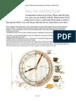 Watercolour Clock
