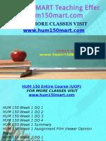 HUM 150 MART Teaching Effectiverly/hum150mart.com