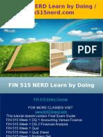 FIN 515 NERD Learn by Doing - Fin515nerd.com