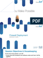 BRKSEC-2020 Firewall Deployment