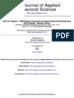Managing International Organizational Development