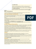 ISO Certification- Steps