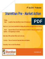 Sharekhan Pre Market 6th Jan 2016 - Wednesday