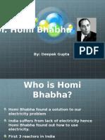 Homi Bhabha (PPT)