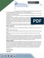 Pc585 Guia Rapida Programacion