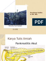 Pankreatitis Present