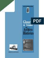 Glosario Terminoa Archivo Historico