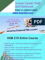 HSM 210 Course Career Path Begins Hsm210dotcom