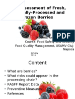 Anamaria David - Berries Risk Assessment