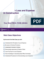 Dealing With Loss and Expense in Construction