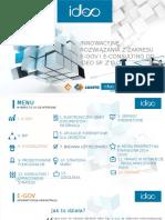 Prezentacja na temat  E-gov i E-konsulting od Ideo Sp. z o. o.