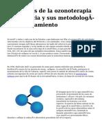 <h1>Los alivios de la ozonoterapia en Valencia y sus metodologías de tratamiento</h1>