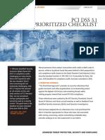 PCI DSS 3.1 Prioritized Checklist