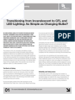 Transitioning from Incandescent to CFL and LED Lighting