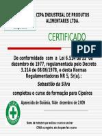 Certificado Do Curso de Cipa
