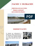 Sedimentacion y filtracion