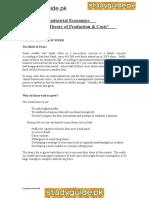 91108 Economics Notes Unit 4 Industrial Economics