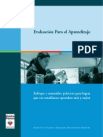 Evaluación Para El Aprendizaje MINEDUC