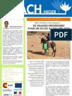 Newsletter Nº 1 ACH-Niger janvier 2010