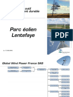 Documents de Global Wind Power France présentés lors de la réunion publique de Fours, mari 17 mai 2016