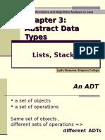 Lists Stacks