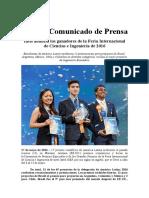 Intel anuncia los ganadores de la Feria Internacional de Ciencias e Ingeniería de 2016