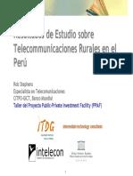 estudios de telecomunicaciones rurales