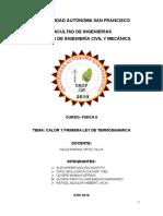 PRIMERA LEY DE TERMODINAMICA