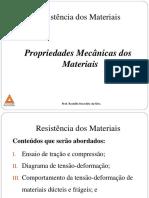 Aula IV_Propriedades Mecânicas Dos Materiais e Lei de Hooke