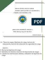 1.4 Tipos de cargas, Hipótesis de carga, factores de  mayoración, factores de reducción de capacidad de carga.pdf