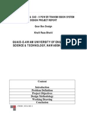 Gear Box Design Report | Transmission (Mechanics) | Gear