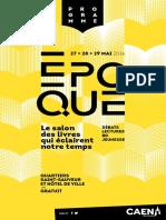 Programme d'Epoque, le salon du livre de Caen