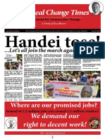 The Real Change Times - Issue 163 Online