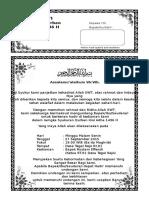 Contoh Surat Undangan Tahlil 40, 100, 1000 Hari (Haul)