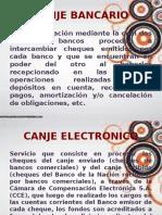 CANJE BANCARIO