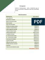 Presupuesto Villa Trina