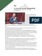 High Economic Growth Awaits Bangladesh