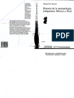 Cap. 1 Marzal Historia de la Antropología indígenista en México y Perú