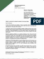 Lettre de la Commission européenne à la Direction française de l'eau