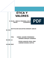 PLAN de Areas de Etica y Valores