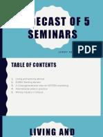 slidecast of 5 seminars