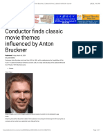 Conductor finds classic movie themes influenced by Anton Bruckner