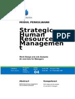 Modul Strategic Human Resource Management [TM4]