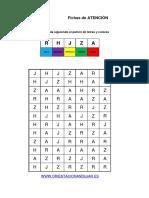 Bateria Estimulacion Cognitiva Identifica LAS LETRAS y Colorea Nivel Avanzado 5